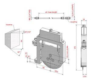 Uchwyt pneumatyczny QHP-19W